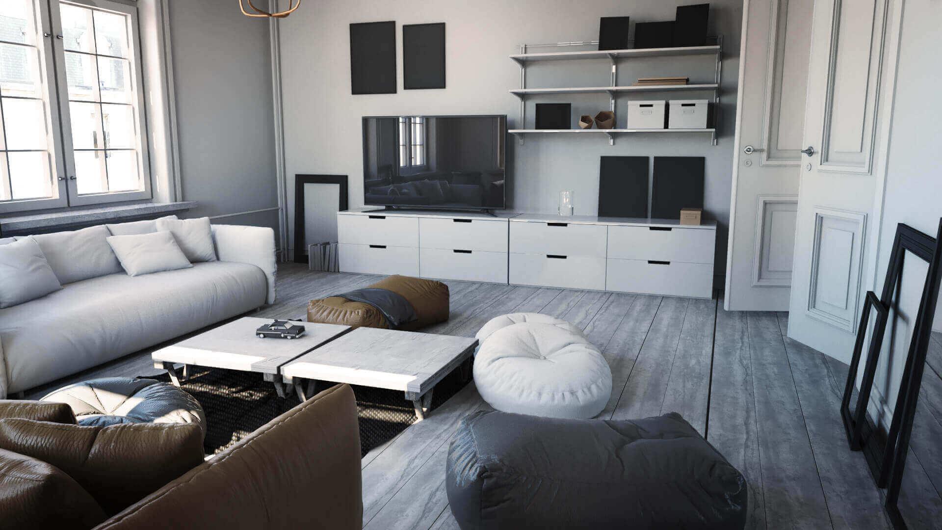 wizualizacja loftu